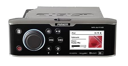 Fusion av750Divertissement Système Marine avec lecteur DVD/CD-Noir