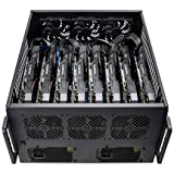 Rosewill 8 GPU Mining Case Frame - Mine Cryptocurrency Bitcoin (BTC)/Ethereum (ETH/ETC)/Zcash/Monero & More Altcoins, Dual PSU Miner Rig, Max Airflow for Extended GPU Life (Color: Mining Case - B1200A)