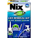 Nix Ultra Lice Removal Kit | Complete Lice and Egg Removal Kit for Hair as Well as Bedding and Furniture | Includes Lice Elimination Solution, Lice Control Spray, and 2-Sided Nit Removal Comb