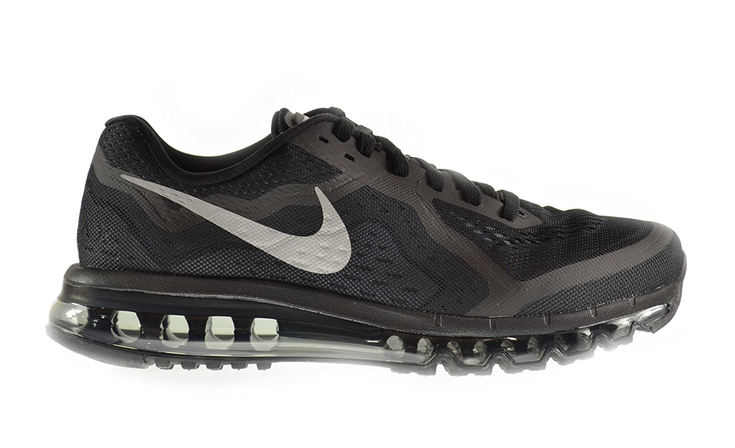 Nike Air Max 2014 Men\u0026#39;s Shoes Black/Reflect Silver-Anthracite-Dark Grey 621077 ...