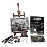 SoHo Urban Artist Deluxe 49 Piece Really Complete Acrylic Painting Set - Includes Tabletop Easel, 24ct 21ml Tube Acrylic Paints, Brushes, Palette Paper, Cups and Instructional DVD (Color: Complete Acrylic Painting Set, Tamaño: Complete Set)