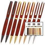 Legacy Woodturning, Slimline Pen Kit Starter Pack with Bushings, Hurricane M42 Cobalt Drill Bit, Pen Kits, Wood Pen Blank Sampler Pack