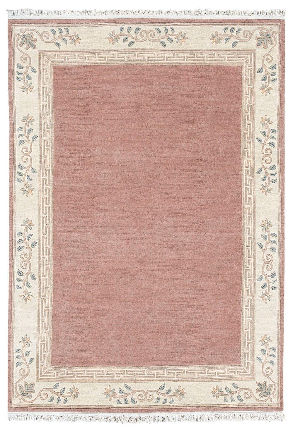 """TEPPICHWELT SONA-LUX Nepal Teppich handgeknüpft altrose """"Größe auswählen"""" 70 x 140 cm"""
