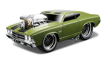 Maisto - 2043072 - Maquette De Voiture - Chevrolet Chevelle Ss '69 - Mat Vert - Echelle 1/24
