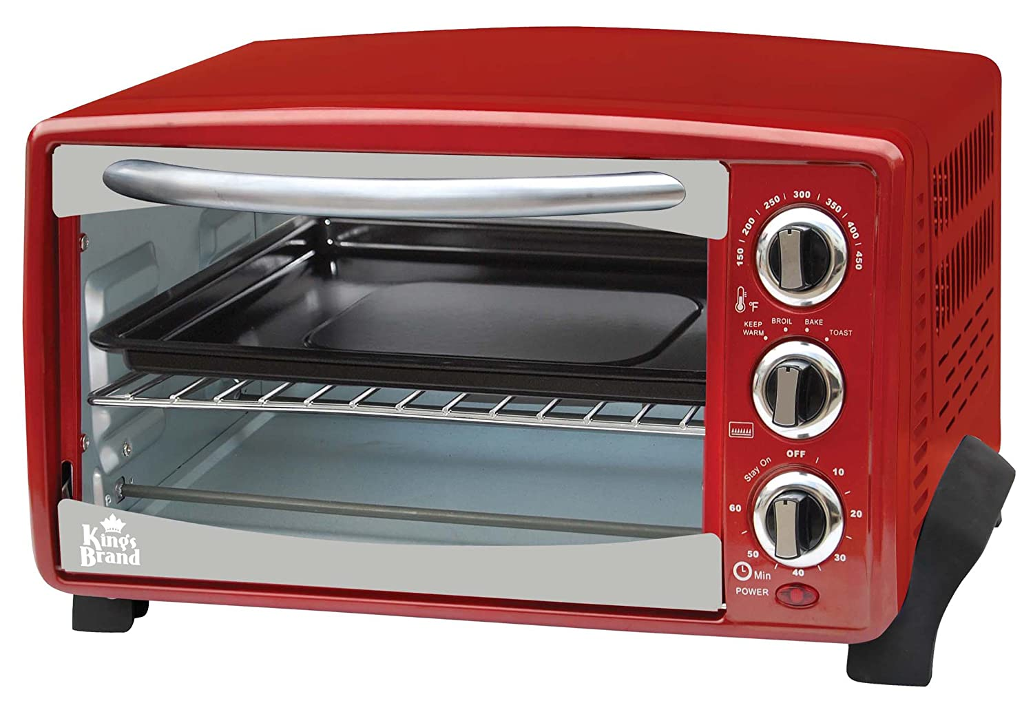 Red 6-Slice Toaster Oven-  A Toaster