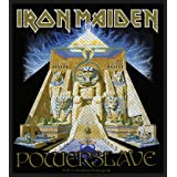 Iron Maiden Powerslave Patch Pyramid Heavy Metal Album Woven Sew On Applique (Color: Black, Tamaño: Small)