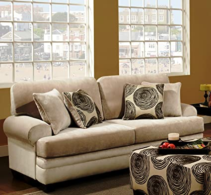 Chelsea Home Furniture Rayna Sofa, Groovy Beige