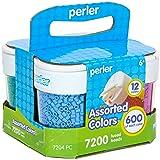 Perler Bead Large Organizer and Perler Beads for Kids Crafts Set, 7200pc.