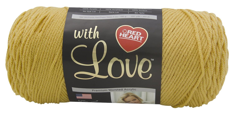 Red Heart with Love E400.1207 Yarn, Cornsilk