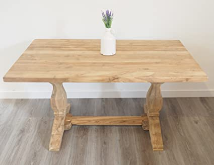 Reclaimed Dining Table - Rectangular - Rustic Kichen Furniture - 4 to 6 Seater - 150 x 90 cm