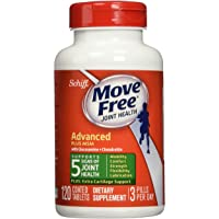 Move Free Glucosamine Chondroitin MSM and Hyaluronic Supplement, 120 Count