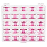 Janome Sewing Machine Cherry Blossom Pink Bobbins 25 ct (Color: Original Version)