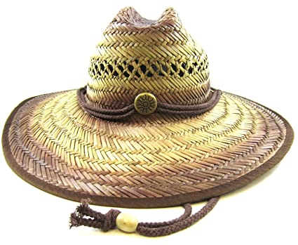 Straw Lifeguard Hat W/dark
