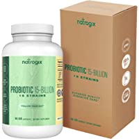 Natrogix 60 Day 15 Strain 15 Billion CFU Probiotic with Prebiotic