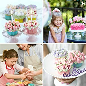 Russian Piping Tips Set - 30 pcs Cake Cupcake Decorating Supplies Kit - 14 Icing Frosting Nozzles (2 Leaf Tips) - 12 Baking Pastry Bags - Silicone Bag - 3 Couplers - Gift Box (Color: Silver, Tamaño: 30 pcs set)