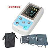 CONTEC ABPM50 Handheld 24hours Ambulatory Blood Pressure Monitor with PC Software for Continuous Monitoring NIBP USB Port with Three Cuffs (Tamaño: large)