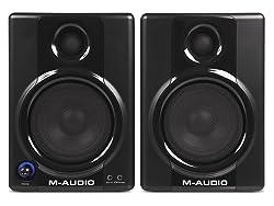 M-Audio Studiophile AV30 Speakers for AT-LP60 Turntable