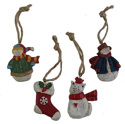 Susan Winget WINTER WONDERLAND Rustic Ornaments - 4 Piece Set
