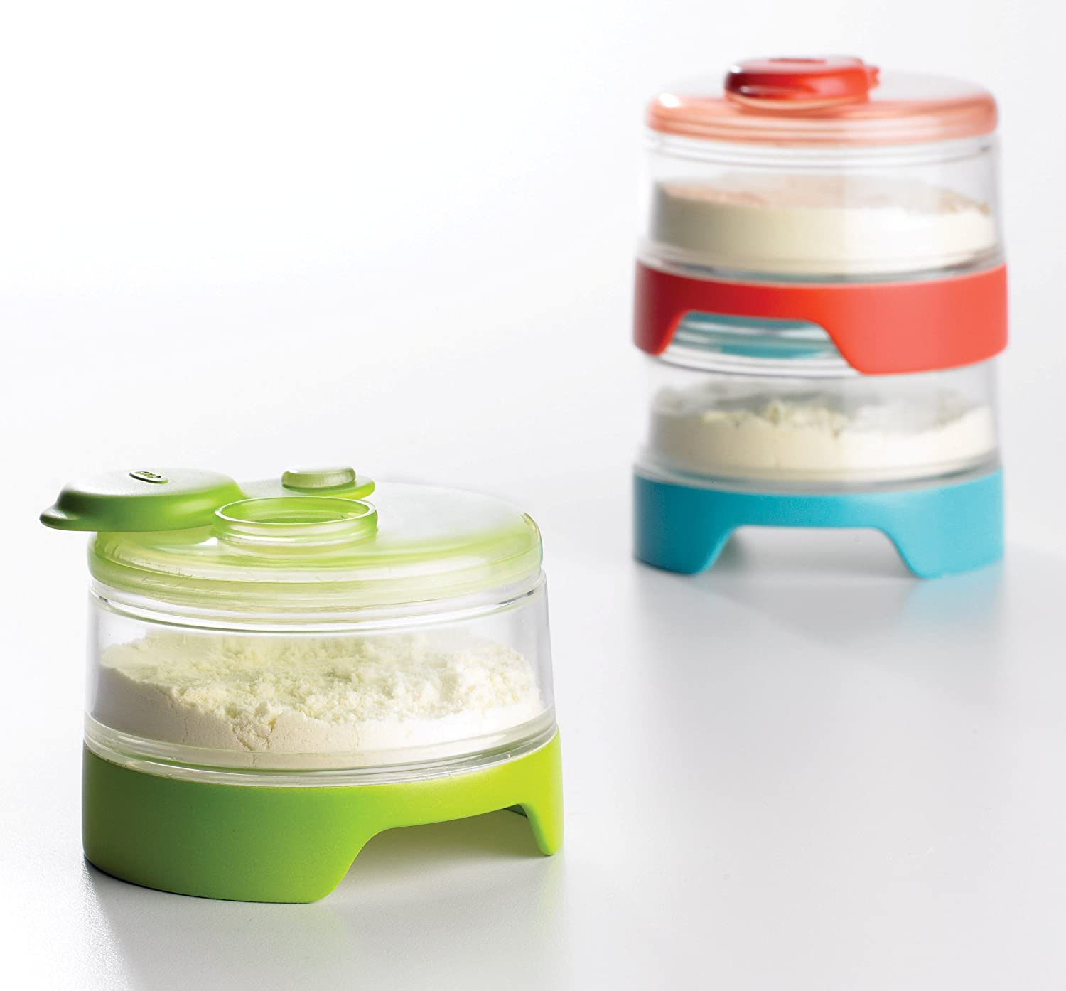 Stackable formula containers