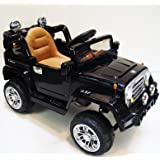Jeep Style with DUBLE MOTORS ,TWO BATERIES 12V Ride on Car with Remote Control LEATHER SEAT,MP3, SHOCK ABSORBERS for Kids 2-5 years old