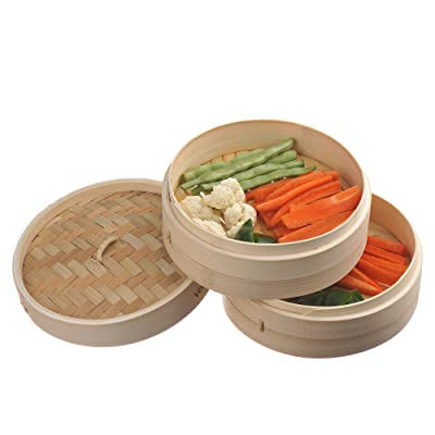 VonShef 2-Tier Bamboo Steamer Via Amazon
