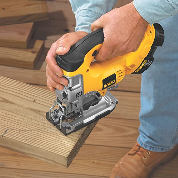 yellow dewalt jig saw