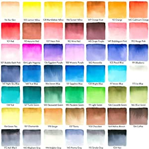 Arteza Real Brush Pens, 48 Colors for Watercolor Painting with Flexible Nylon Brush Tips, Paint Markers for Coloring, Calligraphy and Drawing with Water Brush for Artists and Beginner Painter (4 Pack) (Color: Set of 48 Colors, Tamaño: 4 Pack - Set of 48)