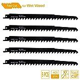 TAROSE 9-1/2-Inch 3 TPI Reciprocating Saw Blades Set For Cutting Wood, 5-Piece (Tamaño: 9