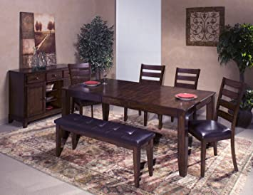 Janes Gallerie Kona Mango Wood 6-piece Dining Set (42 x 60-78)