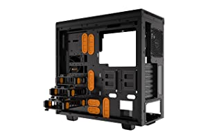 be quiet! Pure Base 600 Window Orange, BGW20, Mid-Tower ATX, 2 Pre-Installed Fans, Tempered Glass Window (Color: Window Orange, Tamaño: Window Orange)