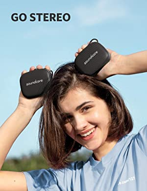 Soundcore Icon Mini by Anker, Waterproof Bluetooth Speaker with Explosive Sound, IP67 Water Resistance for Hiking, Cycling, Playing, and Exploring, Pocket Size, 8-Hour Playtime, and Built-in Mic