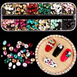 Nail Art,Putars Professional Sexy Nail Gradient Pearls Sequins Glitter Dazzling Manicure Nail Art Decoration (A) (Color: A)