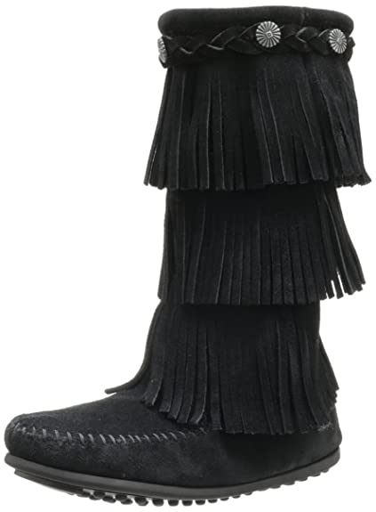 Luxury Minnetonka 3-Layer Fringe Bootie For Girls Cheap Sale Multicolor Selection