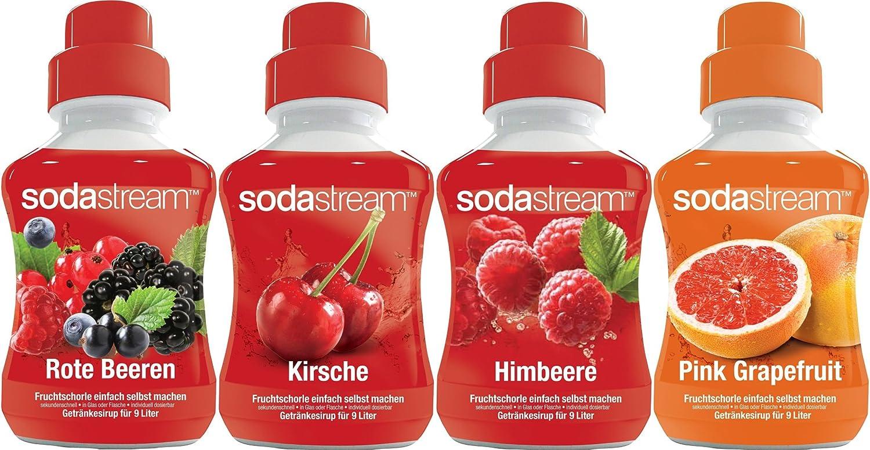 SodaStream 4er Sirup-Packung für Fruchtschorle: