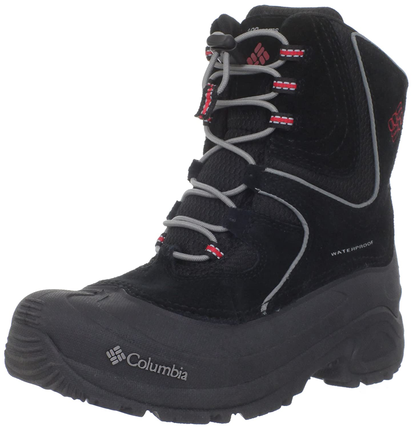 Columbia Youth Snowpack Snow Boot (Little Kid/Big Kid),Black/Intense Red,2 M US Little Kid