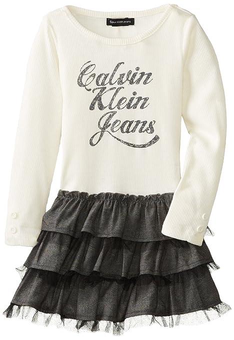 Calvin-Klein-Little-Girls-Logo-Tier-Ruffle-Dress