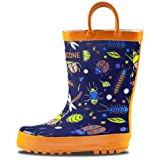 LONECONE Rain Boots with Easy-On Handles in Fun Patterns for Toddlers and Kids, Beetle Boots, Beetle Boots, Beetle Boots, Toddler 9