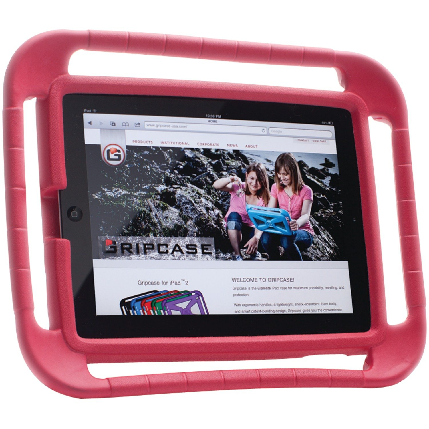 iPad Case for Kids -- Gripcase - Red