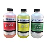 Biopharm Buffer Calibration Test Kit 3-pack 8 oz (250 mL) pH 4.0, pH 7.0 and Electrode Storage-For Precise and Accurate Calibrations, Designed for Hydroponics and Aquaponics- Ideal for ALL pH Meters