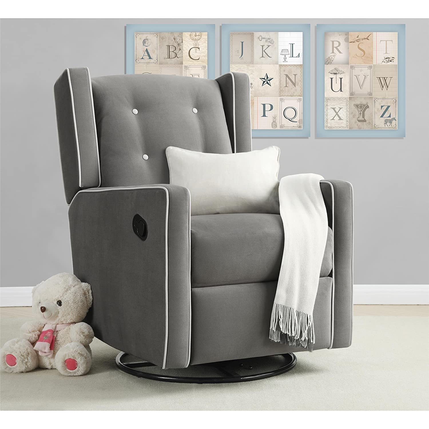 knightly is recliners the functionality dorel sourceimage smooth seating baby style combining rocker details products everston recliner chairs comfort and gray a living has solution eng glider perfect chair swivel gliding nursery