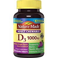 120-Count Nature Made Adult Chewable D3 1,000 I.U. Tablets (Grape)