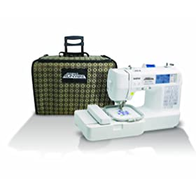 Brother LB6800PRW Project Runway Computerized Embroidery and Sewing Machine with Included Rolling Carrying Case width=