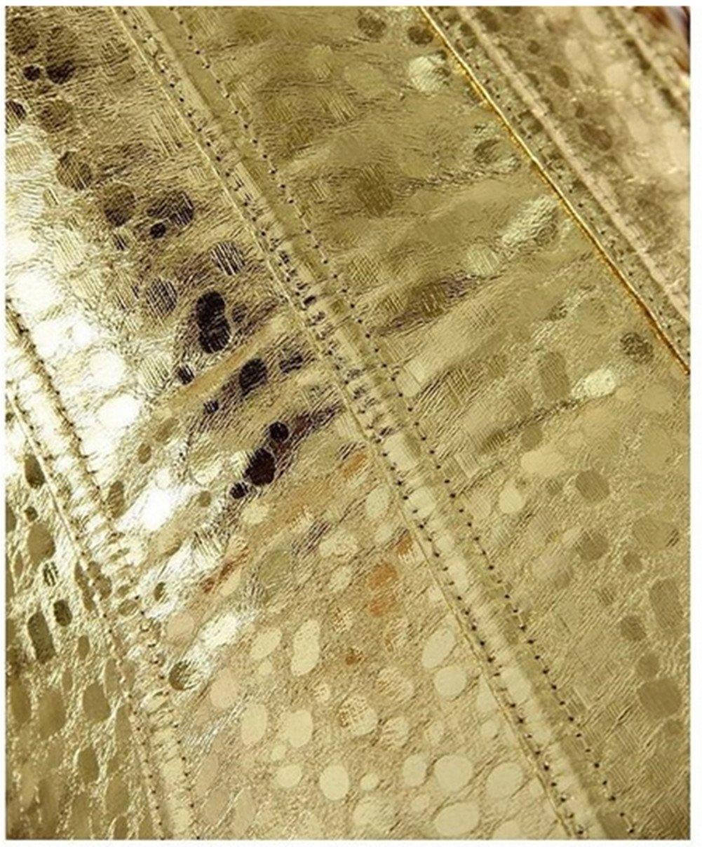 Vintage Overbust Corset Waist Trainer Bustier Gold Color 2