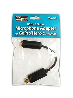 Microphone Adapter for GoPro Hero3 Hero4 3.5mm to USB Mini