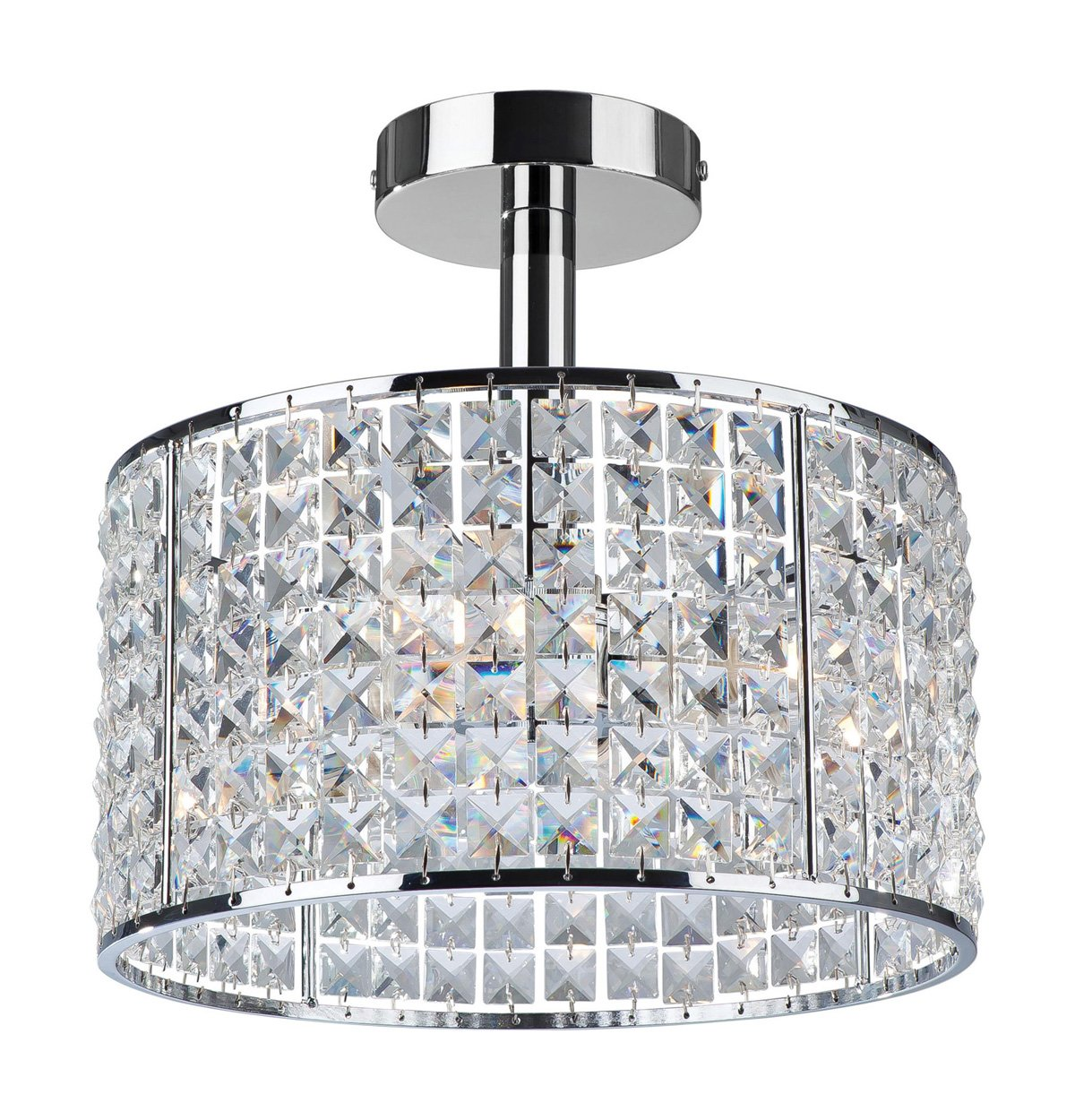 Firstlight Pearl G9 IP44 4 x 240 V 40 Watt Chrome Semi Flush Fitting with Crystal       Customer reviews and more news