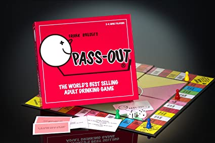 Pass Out Drinking Board Game