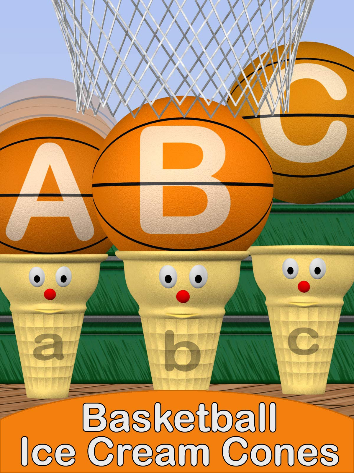 ABC Basketball Ice Cream Cones
