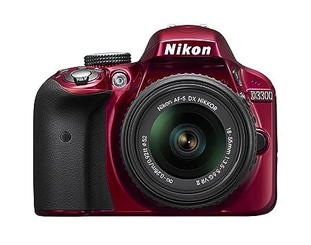 Nikon D3300 24.2 MP CMOS Digital SLR with AF-S DX NIKKOR 18-55mm f/3.5-5.6G VR II Zoom Lens (Red): Amazon.ca: Camera & Photo