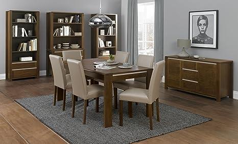 "Coastlink Casa Walnut Contemporary Extension Dining Table (50.5"" to 66"")"