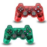 2pcs Pack Wireless Game Controller Double Vibration Gamepad for Sony PS2 PlayStation 2